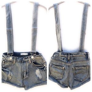 Crave Fame by Almost Famous Denim Short-Alls